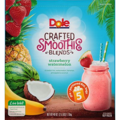 Dole Crafted Smoothie Blends Strawberry Watermelon 5 Ct 8 Oz Sam S Club