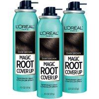 L'Oreal Paris Magic Root Cover Up Temporary Gray Concealer Spray, Dark Brown (3 pk.)