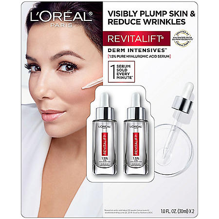 L'Oreal Paris Revitalift® Derm Intensives Hyaluronic Acid Face Serum, 2-pk