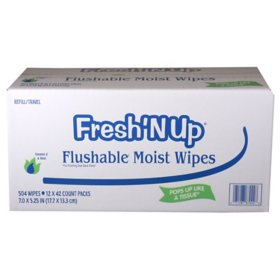 Fresh 'N Up Flushable Wipes (42 ct., 12 pk.)