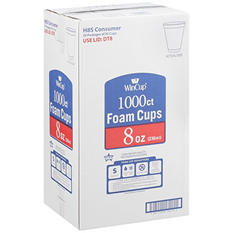 WinCup® Foam Cups - 8 oz./1000 ct.