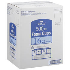 WinCup® Foam Cups - 16 oz./500 ct.