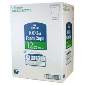 WinCup® Foam Cups (Choose Your Size and Count)