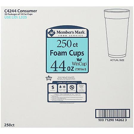 WinCup® Foam Cups - 44 oz./250 ct.