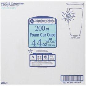 WinCup Foam Car Cups, 44 oz. (200 ct.)