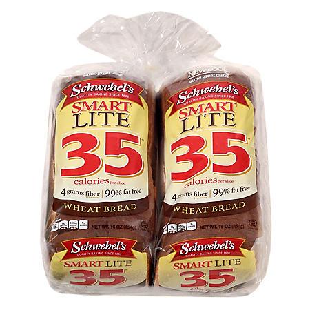 Schwebel's Smart Lite 35 Wheat Bread (2 pk., 16 oz.)