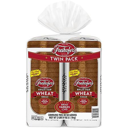 Freihofer's Split Top Wheat Bread (20oz / 2pk)