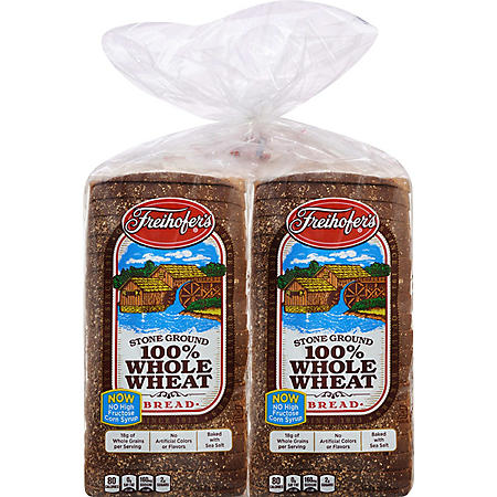 Freihofer's 100% Whole Wheat Bread (24oz / 2pk)