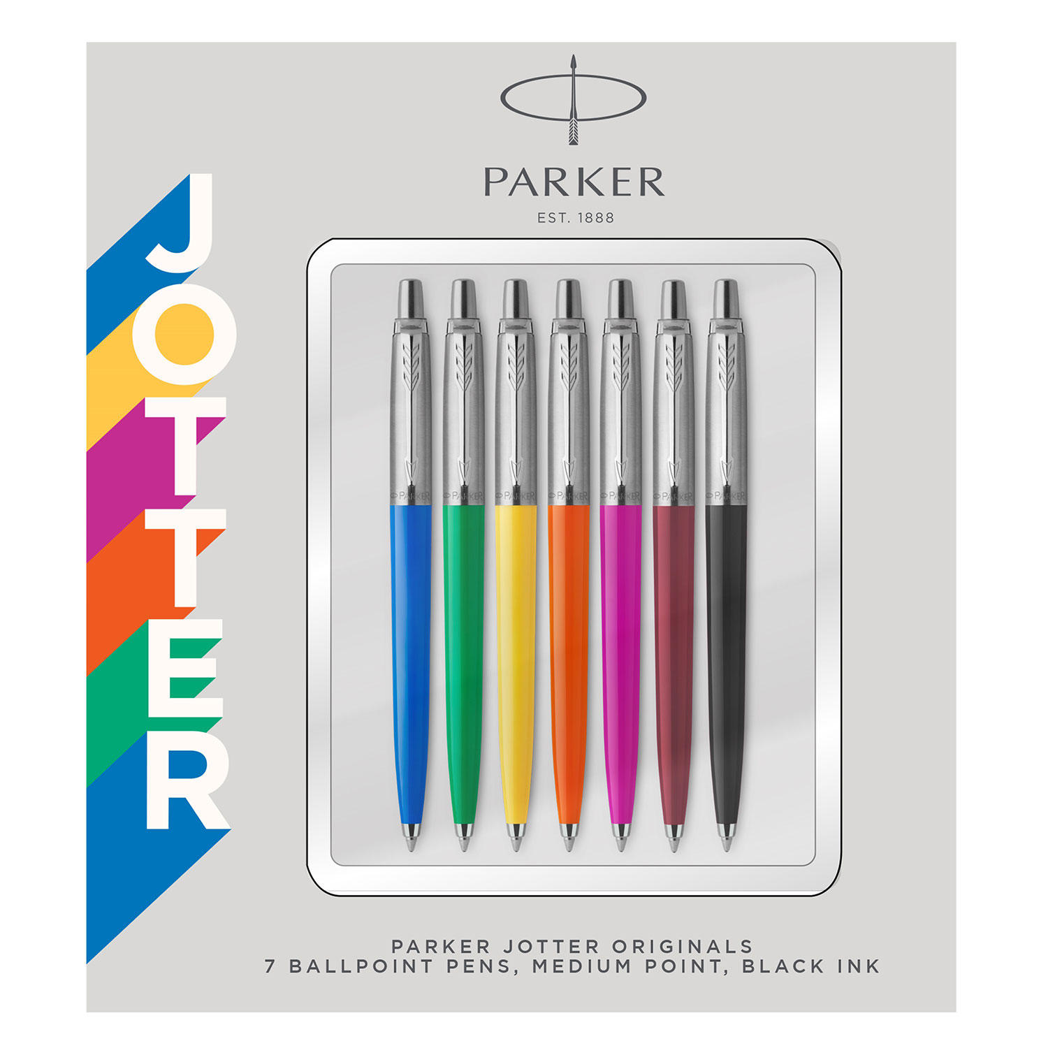 7-Count Parker Jotter Originals Medium Point Black Ink Ballpoint Pen