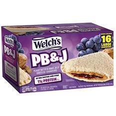 Welch's Grape PB&J Sandwich (44.8 oz., 16 ct.)
