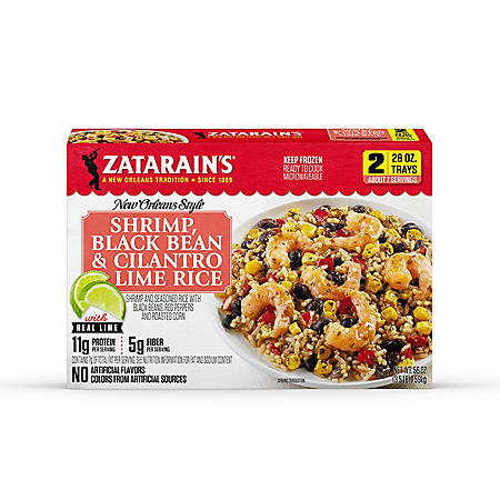 Zatarain's Cilantro Lime Rice with Shrimp and Black Beans, Frozen (2 pk.)