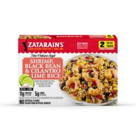 Zatarain's Cilantro Lime Rice with Shrimp and Black Beans, Frozen (2 pk.)