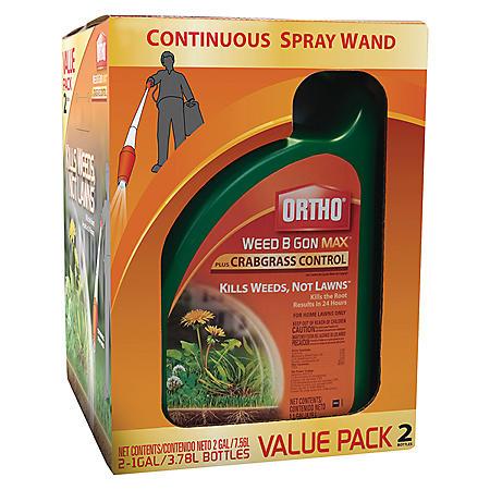 Ortho 2-1 gal. Weed-B-Gon Max Plus Crabgrass RTU w/Wand