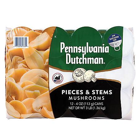 Pennsylvania Dutchman Mushrooms (4 oz., 12 pk.)