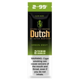 Dutch Masters Green Envy Cigarillos 2/$0.99 Pre-Marked (2 pk., 30 ct.)
