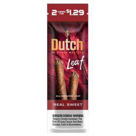 Dutch Masters Leaf Cigar Real Sweet 2 for $1.29 (2 ct., 30 pk.)