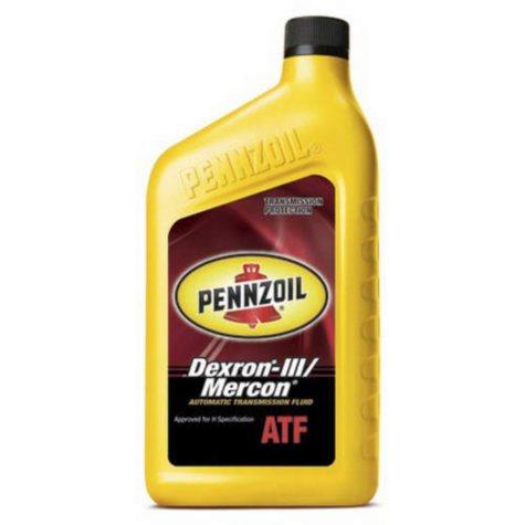 Pennzoil Auto Transmission Fluid Dexron-III/Mercon (12-pack / 1-quart Bottles)