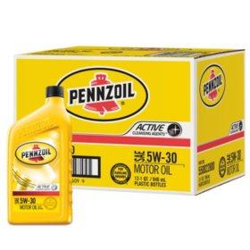 Pennzoil 5W-30 Motor Oil (12-pack / 1-quart Bottles)