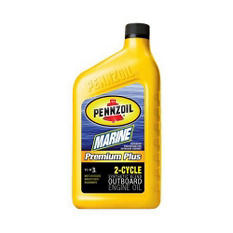 Pennzoil Marine 2-Cycle Outboard Engine Oil (6-pack / 1-quart bottles)