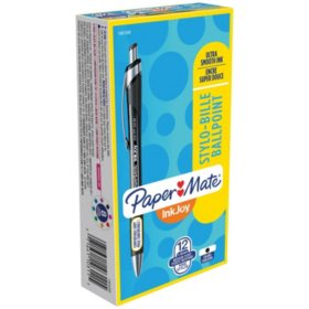 Paper Mate InkJoy 550RT Ballpoint Pen, 1mm, Black, 12pk.