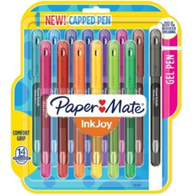 Paper Mate InkJoy Gel Pens, Medium Point (0.7mm), Assorted Colors, Capped, 14 Count