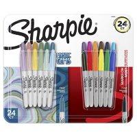 Sharpie - Permanent Marker, Fine, Assorted Colors , 24 Count