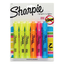 Sharpie Accent - Accent Tank Style Highlighter, Chisel Tip, Assorted Colors - 6 ct.