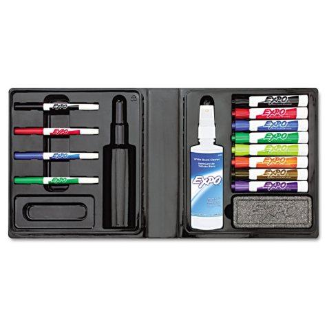 Expo - Dry Erase Marker/Eraser/Cleaner, Chisel/Fine, Assorted - 12 per Pack