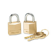 Master Lock® Twin Brass 3-Pin Tumbler Lock , 2 Pack