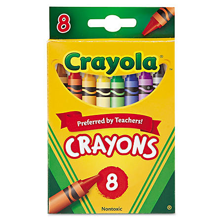 Crayola Classic Color Crayons, Peggable Retail Pack, Peggable Retail Pack, 8 Colors