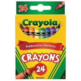 Crayola Classic Color Crayons, 24 Colors, Peggable Retail Pack