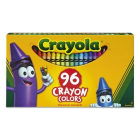 Crayola® Classic Color Crayons in Flip-Top Pack with Sharpener, 96 Colors