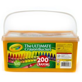 Crayola Ultimate Crayon Bucket, 200 Count