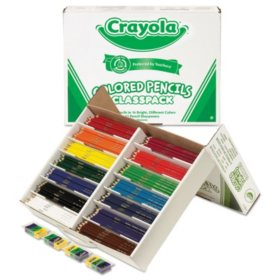 Crayola® Colored Woodcase Pencil Classpack, 3.3mm, 33 EA of 14 Ast Colors + 12 Sharpeners
