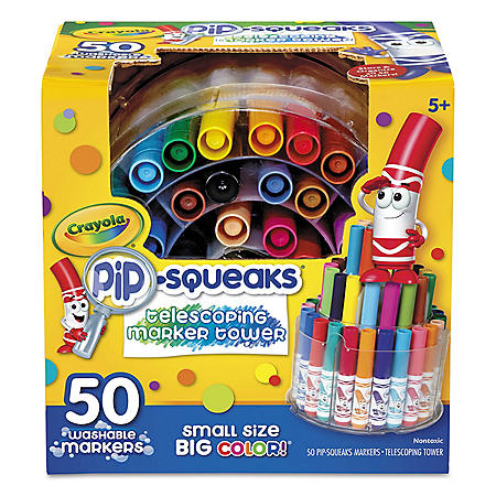 Crayola® Pip-Squeaks Telescoping Marker Tower, Assorted Colors, 50/Set