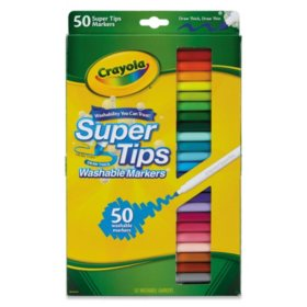 Crayola® Washable Super Tips Markers, Assorted, 50/Set