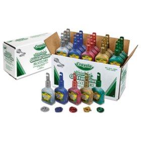 Crayola Glitter Glue Classpack, 4 oz, Liquid Arts/Crafts Glue, 20 per Set