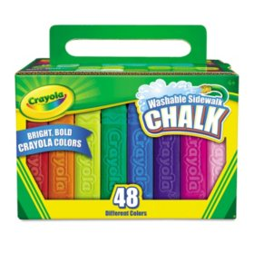Crayola® Washable Sidewalk Chalk, 48 Assorted Bright Colors, 48 Sticks/Set