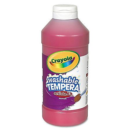 Crayola Artista II Washable Tempera Paint, 16 oz (Choose a color)