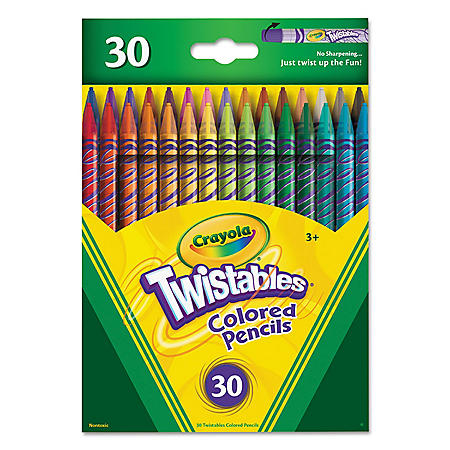 Crayola® Twistables Colored Pencils, 30 Assorted Colors/Pack