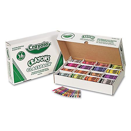 Crayola Classpack Crayons, 16 Colors, 800 Total Crayons