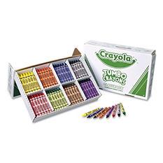 Crayola Classpack Jumbo Crayons, 8 Colors, 200 Total Crayons