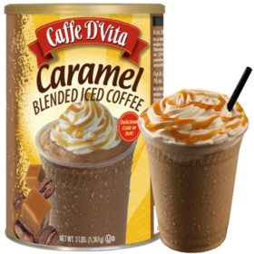 Caffe D'Vita Blended Iced Coffee, Caramel (48 oz.)