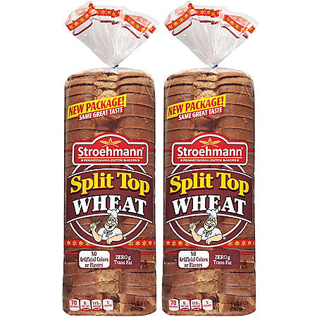 Stroehmann Split Top Wheat Bread - 20 oz. loaf - 2 pk.