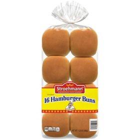 """Stroehmann 3.5"""" Hamburger Buns (22 oz., 16 ct.)"""