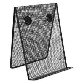 Rolodex - Nestable Wire Mesh Freestanding Desktop Copyholder, Stainless Steel - Black