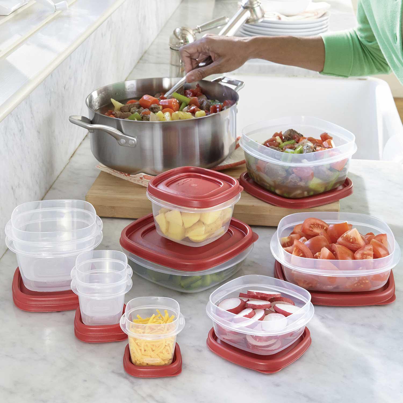 Rubbermaid 50 Piece Easy Find Lids Food Storage Set – BPA FREE