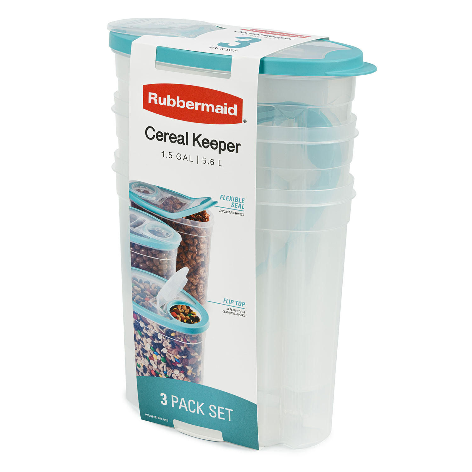 3-Pack Rubbermaid Cereal Keeper