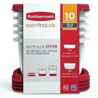 Rubbermaid Easy Find Lids Food Storage Containers, 10-Piece Set