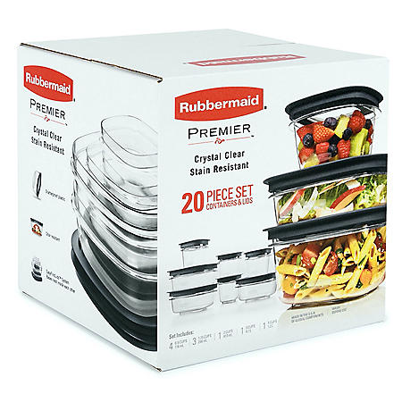 Rubbermaid Premier Easy Find Lids Food Storage Containers, 20-Piece Set